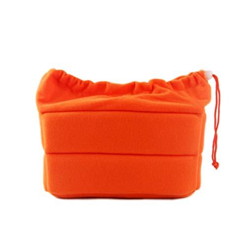 DRF DSLR Camera Insert Bag Shockproof Partition Padded Inner Case with Drawstring BG168 (Orange)
