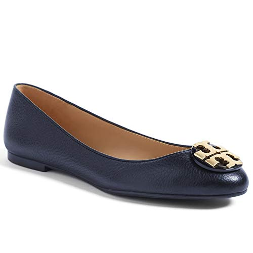 Tory Burch Tumbled Leather Claire Ballet Flat 43394 Size 8