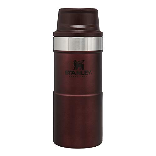 Stanley Classic Trigger Action Travel Mug 12 oz –Leak Proof + Packable Hot & Cold Thermos – Double Wall Vacuum Insulated Tumbler for Coffee, Tea & Drinks – BPA Free Stainless-Steel Travel Cup