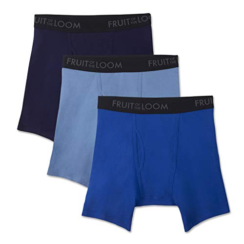 Fruit of the Loom Men's Breathable Underwear, Cotton Mesh - Assorted Color - Boxer Brief, X-Large