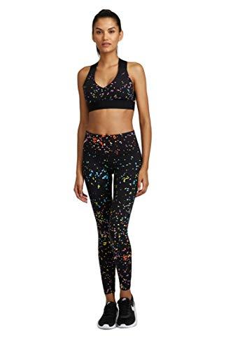 Noli Black Line Performance Activewear Leggings (Hype Black, Medium)