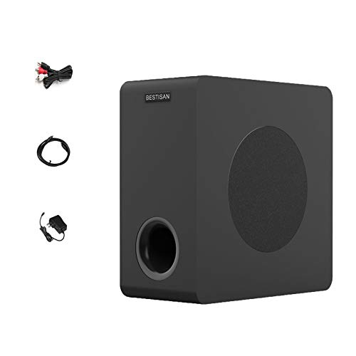 Powered Subwoofer, Bestisan Home Theater Audio Subwoofers, Deep Base, Built-in Amplifier Wireless Bluetooth 6.5' Sub,Optical/RCA/Bluetooth (SW65D, Black)