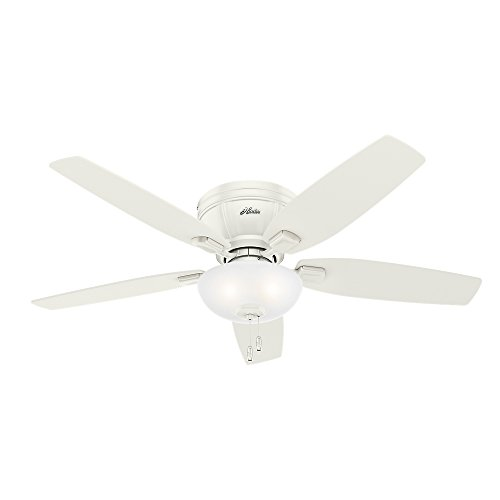 Hunter 53378 Kenbridge 52' Ceiling Fan with Light, Large, Fresh White