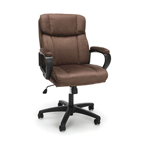OFM Essentials Collection Plush Microfiber Office Chair, in Brown