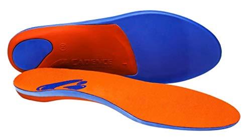 Cadence Insoles Orthotic Shoe Insoles ((E) Men 8-9 WOMEN 9-10, Orange)