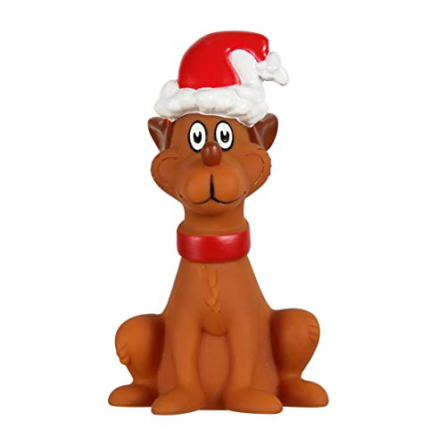 The Grinch Dr. Seuss Max Vinyl Dog Squeak Toy | 5 inch Squeaky Dog Toy from How Stole Christmas | Fun and Safe Plastic Dog Chew Toys for Small and Medium Dogs