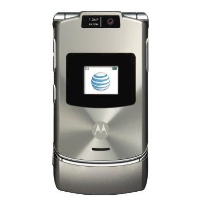 Motorola RAZR V3xx Platinum No Contract AT&T Cell Phone