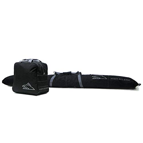High Sierra Ski Bag & Ski Boot Bag Combo Bundle - Black / Black