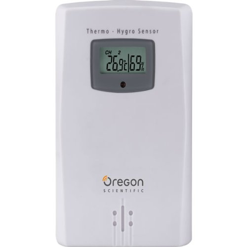 Oregon Scientific THGR122NX Water Resistant Remote Sensor W/ LCD Display Measures and Displays Humidity & Temperature from -22F to 140F