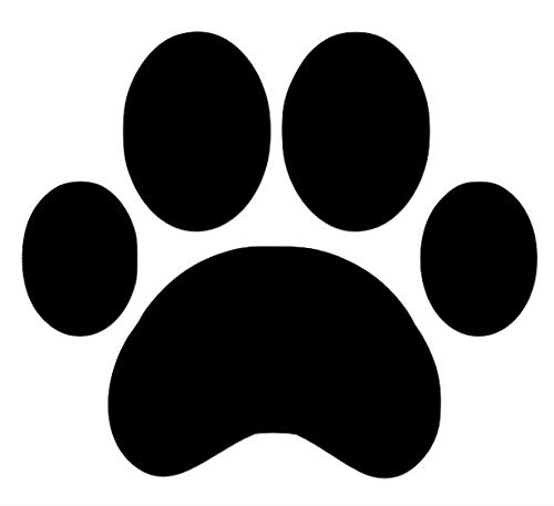 SecurePro Products - 16 Large Paw Prints Premium Quality Decal Stickers - Our Amazing Super Tac Adhesive Holds Strong; Easily Re-Position and Reuse, Easy to Remove, 5.25' Tall x 6' Wide'