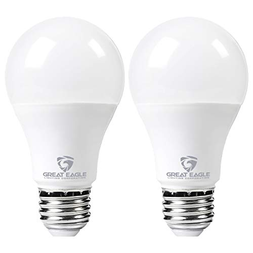 Great Eagle LED 23W Light Bulb (Replaces 150W – 200W) A21 Size with 2605 Lumens, Dimmable, 2700K Warm White, UL Listed (2-Pack)