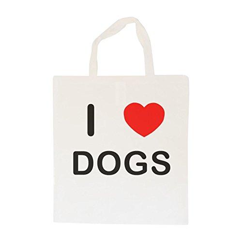 I Love Dogs - Cotton Tote Bag