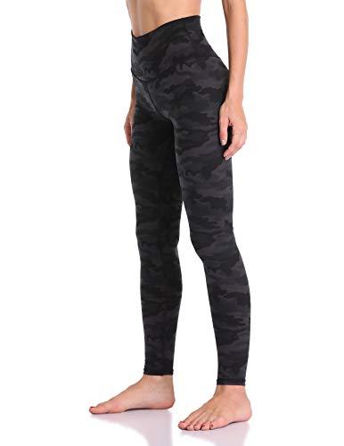 Colorfulkoala Women's High Waisted Pattern Leggings Full-Length Yoga Pants (M, Deep Grey Camo)