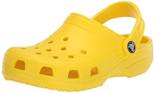 Crocs Classic Clog|Comfortable Slip On Casual Water Shoe, Lemon, 15 M US Women / 13 M US Men