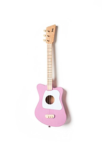 Loog Mini Acoustic Guitar for Children and Beginners, (Pink)