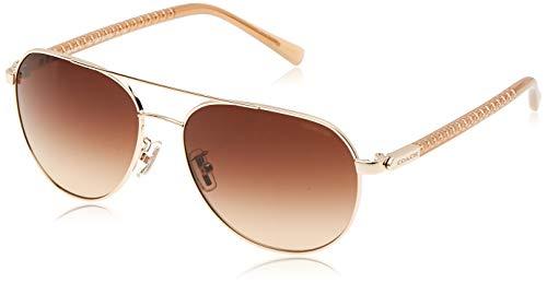 COACH Women's 0HC7053 Light Gold/Brown Gradient Sunglasses
