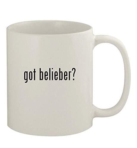 got belieber? - 11oz Ceramic White Coffee Mug, White