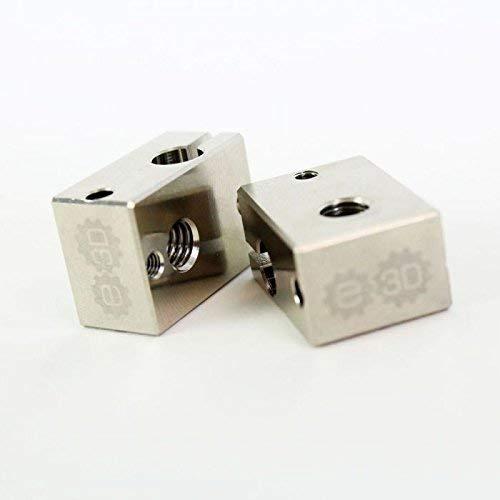 Genuine E3D v6 Plated Copper Heater Block (V6-BLOCK-CARTRIDGE-COPPER)