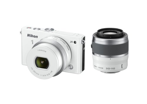 Nikon 1 J4 Digital Camera with 1 NIKKOR 10-30mm f/3.5-5.6 PD Zoom Lens and 30-110mm f/3.8-5.6 Lens (White) (Discontinued by Manufacturer)