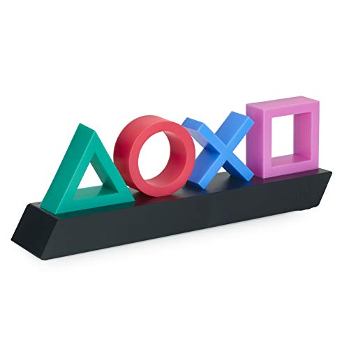 Paladone Playstation Icons Light with 3 Light Modes - Music Reactive Game Room Lighting