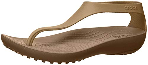 Crocs Women's Serena Flip Flop, bronze/bronze, 10 M US