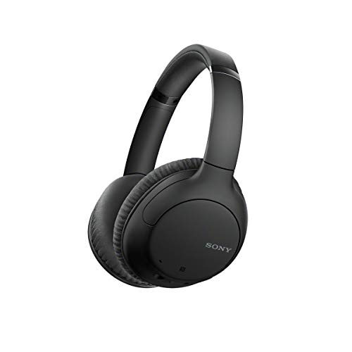 Sony Noise Cancelling Wireless Headphones with 35 Hours Battery Life, Quick Charge, Built-in Mic and Voice Assistant - Black