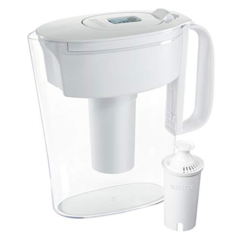 Brita Standard Metro Water Filter Pitcher, Small 5 Cup 1 Count, White