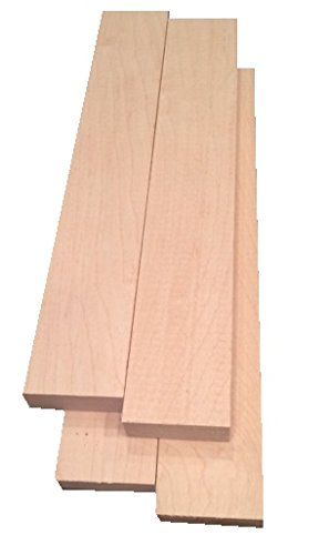 Hard Maple Lumber 3/4'x2'x12' - 4 Pack