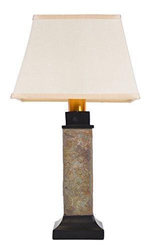 Torch Light ST913B Wireless All Weather Wicker Table Lamp, Natural Slate