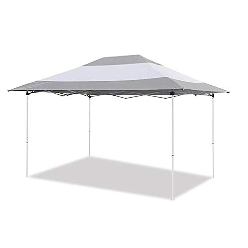 Z-Shade Prestige 14' x 10' Instant Canopy Outdoor Patio Shelter, Grey & White