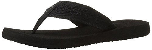 Reef Women's Sandy Flip-Flop, Black/Black, 8