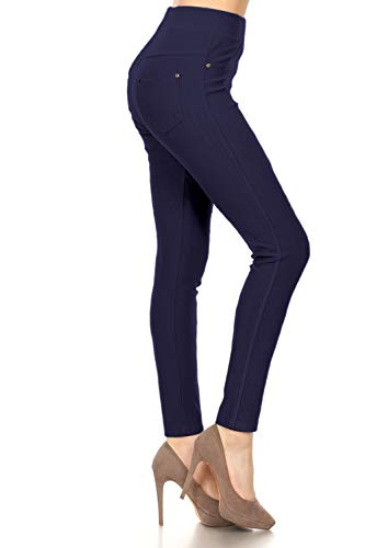J04-1004OS-NAVY Premium Quality Jeggings