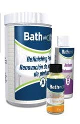 Bathworks DIY Bathtub & Tile Refinishing Kit; 20 oz; Tub; Tile; Wall Surround; Sink; Quick 24 hour dry time; High Gloss Resin Finish (BONE)