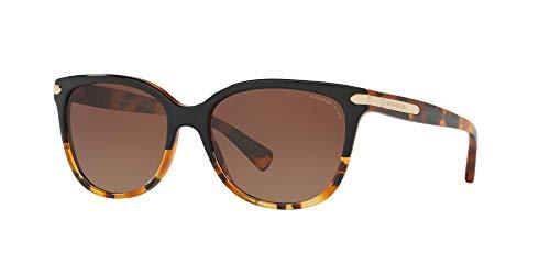 Coach Woman Sunglasses, Tortoise Lenses Acetate Frame, 57mm