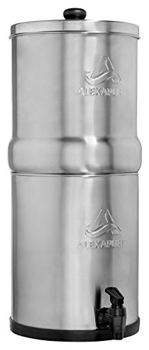 Alexapure Pro Stainless Steel Water Filtration System - 5,000 Gallon Throughput Capacity