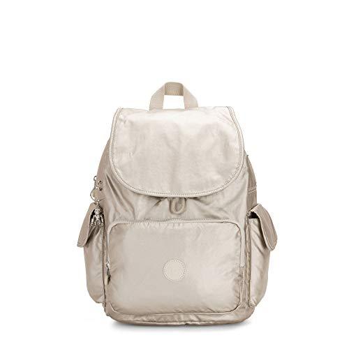 Kipling City Pack Medium Metallic Backpack Cloud Metal