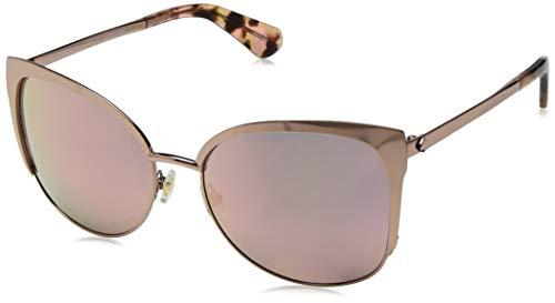Kate Spade New York Women's Genice Round Sunglasses, Rose Gold, 57 mm