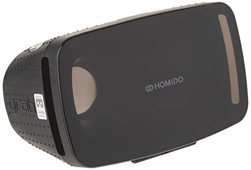 Homido Grab Virtual Reality Headset for Smartphones VR Education VR Games and 3D Movie for ISO and Android, Compatible with iPhone and Android Phones Augmented Reality Headset(Black)