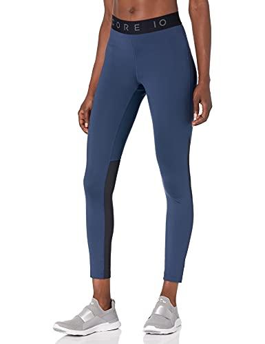 Amazon Brand - Core 10 Women's Standard Lightweight Compression Full-Length Legging, Navy, Small