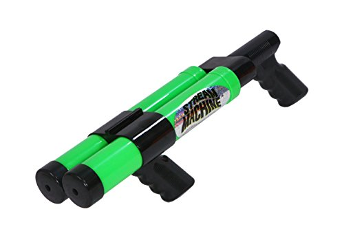 Stream Machine Water Gun DB-1500 Double Barrel Water Launcher, 12 Inch Water Soaker Gun Shoots 40+ ft, Pool Squirt Gun for Outdoor Summer Fun