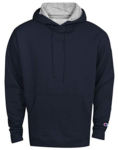 Champion Men's Powerblend Pullover Hoodie, Navy, Large