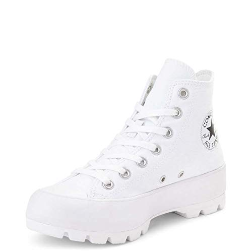 Converse Womens Chuck Taylor All Star Lugged White/Black/White Sneaker - 9.5