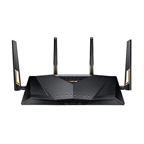 ASUS AX6000 WiFi 6 Gaming Router (RT-AX88U) - Dual Band Gigabit Wireless Router, 8 GB Ports, Gaming & Streaming, AiMesh Compatible, Included Lifetime Internet Security, Adaptive QoS, MU-MIMO
