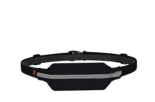 SPIbelt Large Pocket Running Belt, No-Bounce Waist Bag for Runners Athletes Men and Women fits iPhone and Android Phones (Black, One Size)