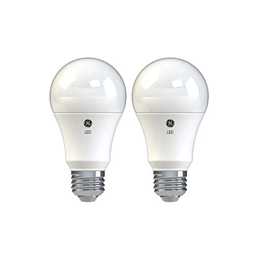 GE Lighting 37027 Basic LED Light Bulbs, 100-Watt Replacement, 2-Pack, Daylight, A19 LED Bulb, Medium Base