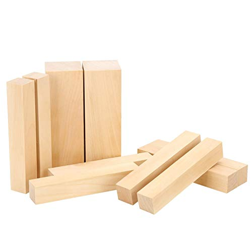 Basswood Carving Block-Large Beginner's Premium Wood Carving/Whittling Kit, Suitable for Beginner to Expert - 10 Pcs with Two 6'x 2'x 2' and Eight 6'x 1'x 1' Unfinished Wood Blocks