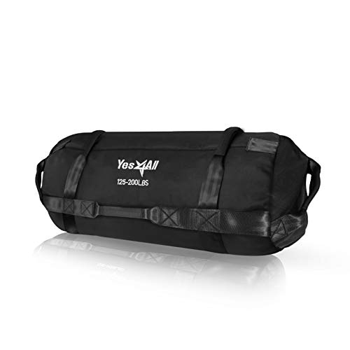 Yes4All Sandbags - Heavy Duty Sandbags for Fitness, Conditioning, Crossfit - Multiple Colors & Sizes (G1. Black - XL)