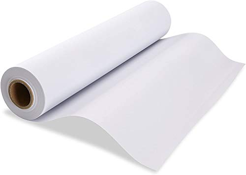 NY Paper Mill White Butcher Paper Roll - 17.75' x 2400' (200ft) Kraft Paper for Storing & Wrapping Meat, Fish - Texas Style BBQ Beef Brisket Smoking & Grilling Wrap - Unwaxed, Uncoated, Designed for 18' or Wider Roll Dispenser/Cutter - Made in USA