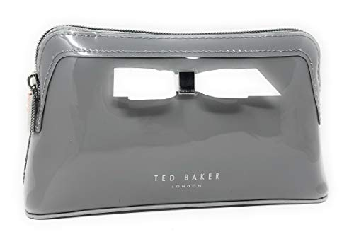 Ted Baker Cahira Bow Make Up Cosmetic Pouch Travel Case Clutch Wash Bag Grey