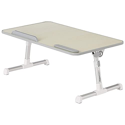 Amazon Basics Adjustable Laptop Tray Table - Lap Desk Fits 17-Inch Laptop - Large